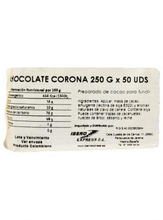 Chocolate corona nutri info