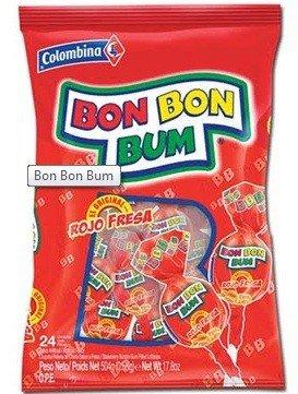 Bon Bon Bum Bolsa Sabor Fresa 408gr