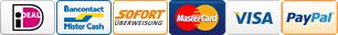 iDeal Bancontact Sofort Mastercard VISA PayPal