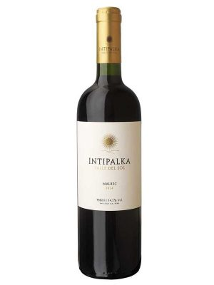 Bottle of Intipalka Malbec wine