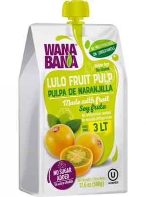 Lulo or Naranjilla fruit pulp 500ml