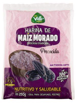 Precooked purple corn flour. 250gr Del Valle