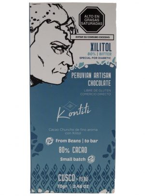 Chocolate bar with Xylitol 70gr